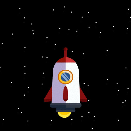 Outer Space Spaceship GIF By Ross Norton on Giphy