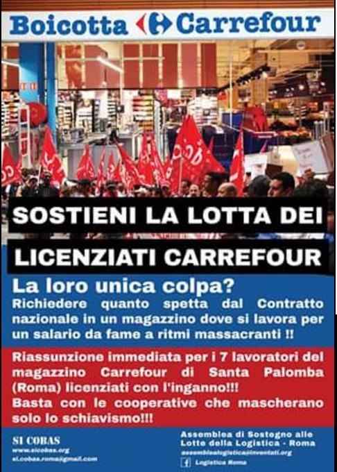 Licenziati Carrefour