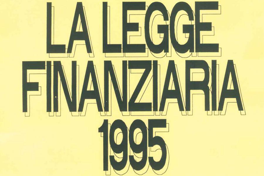 La Legge Finanziaria 1995
