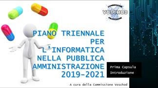 PIANO TRIENNALE P.A. (2019/2021)